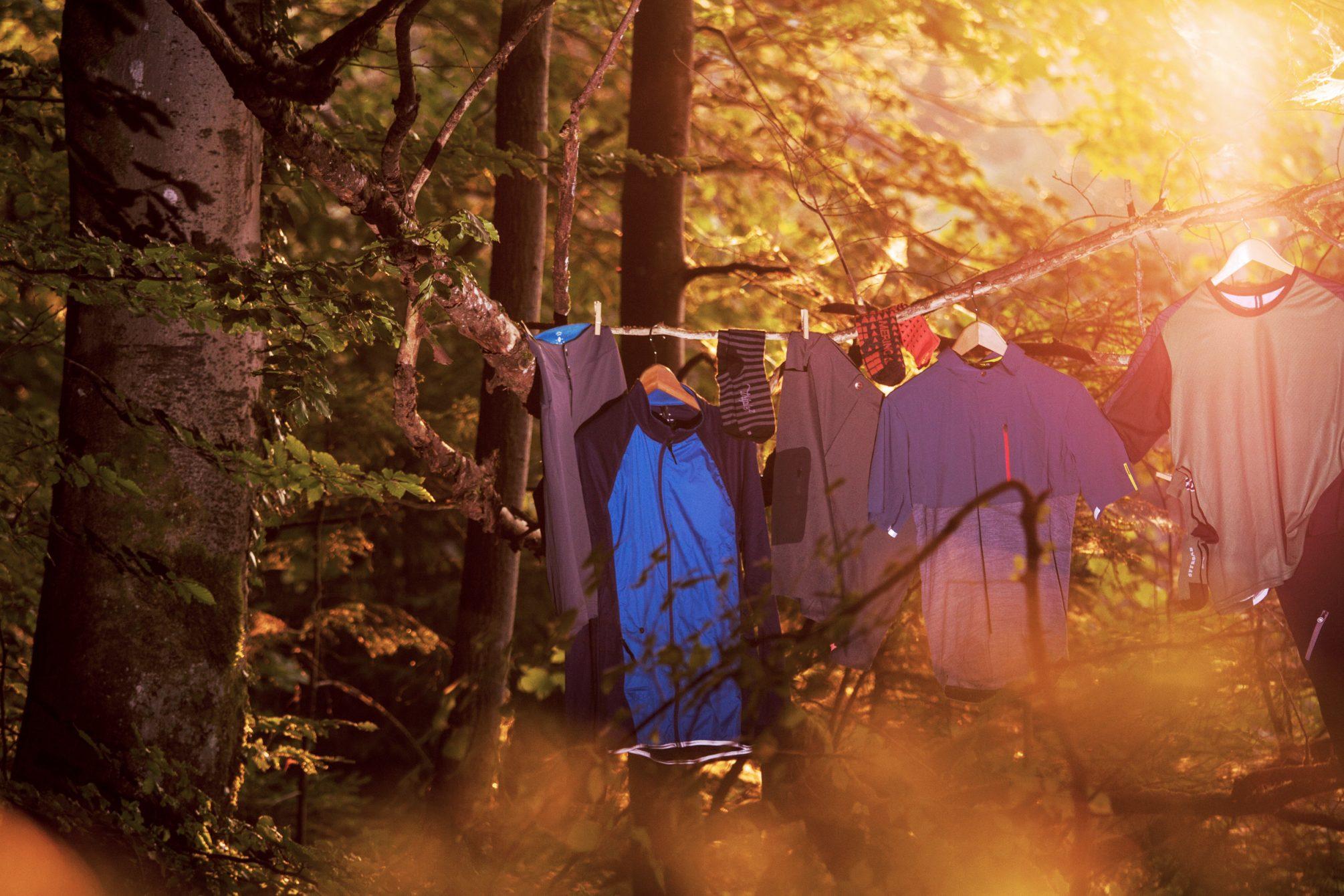 Gravelbike Klamotten Shooting für TOUR in den Isartrails